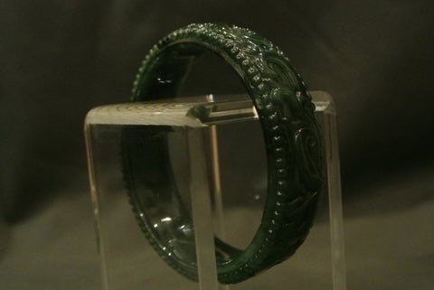 Jade Bangle Omphacite Incised