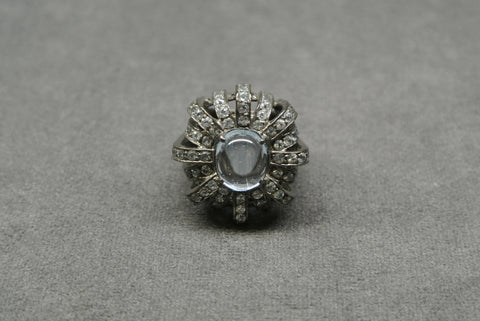 Jewelry Silver Blue Topaz Ring