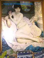 Painting Oil Nude Li Mu