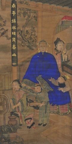 Painting Water Color Portrait Chinese Ancestors Family