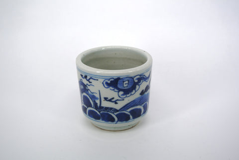 Porcelain Blue White Incense Jar