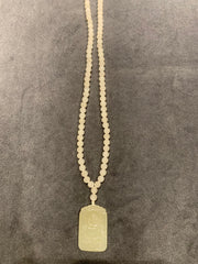 Prayer Beads White Jade