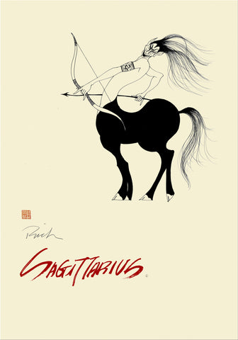 Zodiac Poster Sagittarius (Nov 22-Dec 21) - The Sportsmen