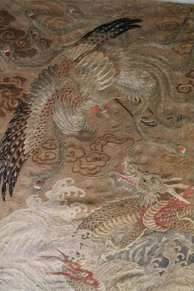 Textile Japanese Wall Hanging Tapestry Phoenix Amp Dragon