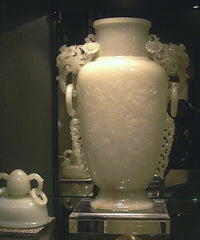 Jade Carved Vases Xinjiang Nephrite