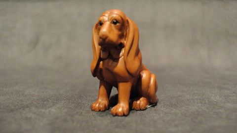 Wood Carved Dog Boxwood Netsuke Chinese Zodiac