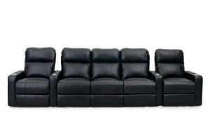 HT Design Easthampton Home Theater Seating Row of 5 with Sofa