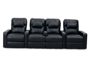 HT Design Easthampton Home Theater Seating Row of 4 Middle Loveseat