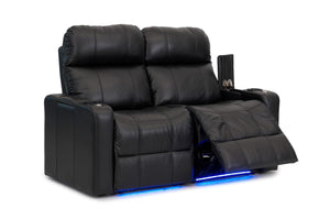 ht design pembroke home theater seating with power headrest row of 2 loveseat