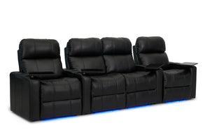 ht design pembroke home theater seating with power headrest row of 4 middle loveseat