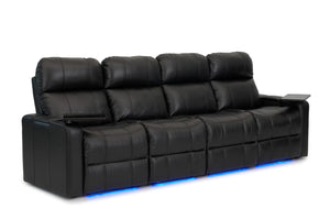 ht design pembroke home theater seating with power headrest row of 4 sofa