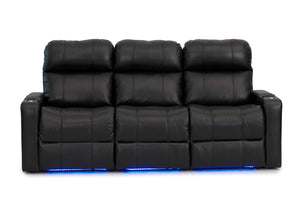 ht design pembroke home theater seating with power headrest row of 3 sofa