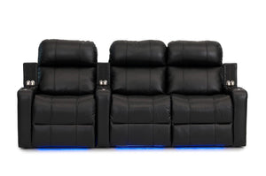 ht design pembroke home theater seating with power headrest row of 3 rf loveseat