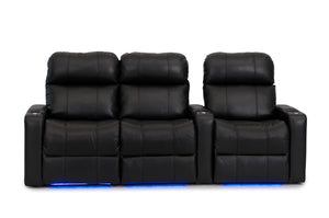 ht design pembroke home theater seating with power headrest row of 3 lf loveseat