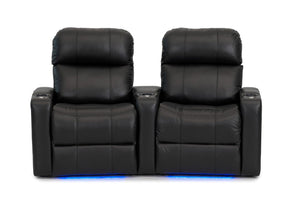 ht design pembroke home theater seating with power headrest curved row of 2