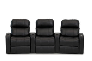 ht design pembroke home theater seating with power headrest curved row of 3