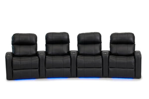 ht design pembroke home theater seating with power headrest curved row of 4
