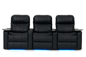 ht design pembroke home theater seating with power headrest row of 3