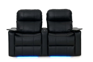 ht design pembroke home theater seating with power headrest row of 2