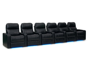 ht design pembroke home theater seating with power headrest row of 6