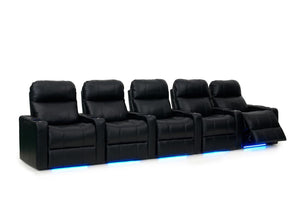 ht design pembroke home theater seating with power headrest row of 5