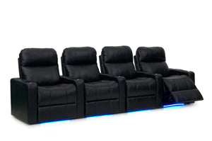 ht design pembroke home theater seating with power headrest row of 4