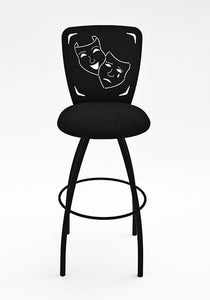 home theater swivel comedy tragedy bar stool