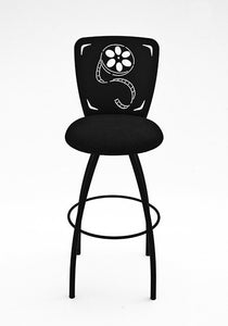 home theater swivel reel bar stool