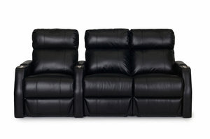 ht design paget theater seating row of 3 rf loveseat