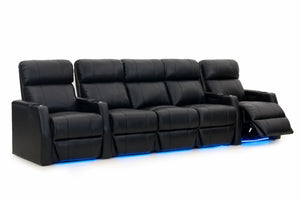 HT Design Warwick Home Theater Seating Row of 5 with Sofa