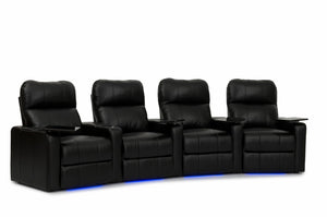 HT Design Southampton Home Theater Seating Curved Row of 4