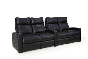 HT Design Addison Home Theater Seating Row of 4 Double Loveseat