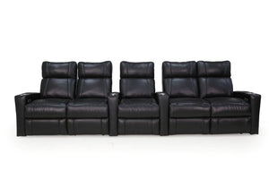 HT Design Addison Home Theater Seating Row of 5 Double Loveseat Captains Chair