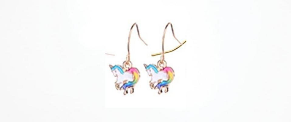Unicorn Dangle Earrings Hypoallergenic