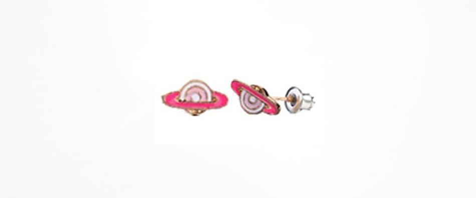 Pink Planet Earrings Hypoallergenic