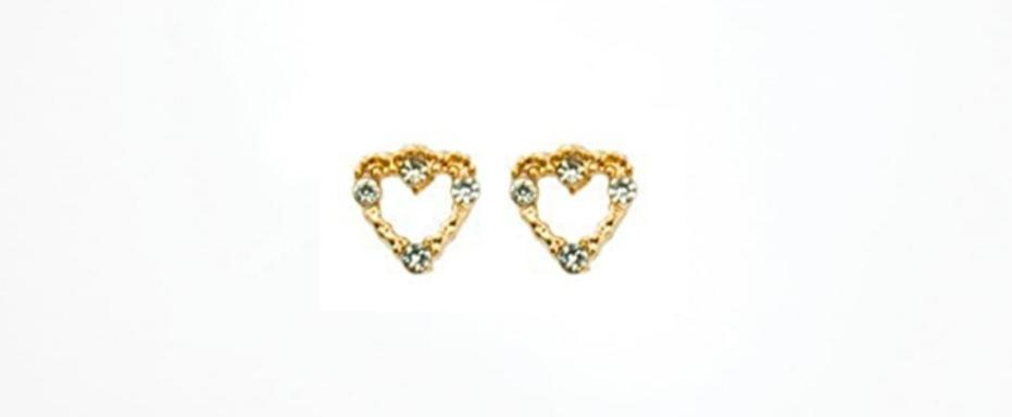 Heart Earrings Hypoallergenic