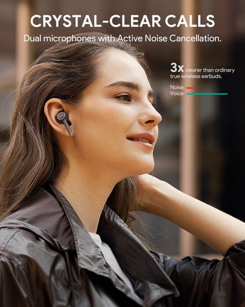 Key Series T18NC Active Noise-cancelling True Wireless Earbuds Hi-Fi Quality Sound
