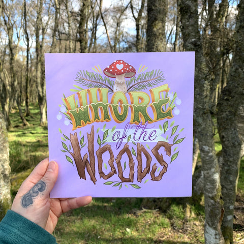 Whore of the Woods Sqaure Art Print