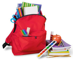 School Bag with Copies and other accessories