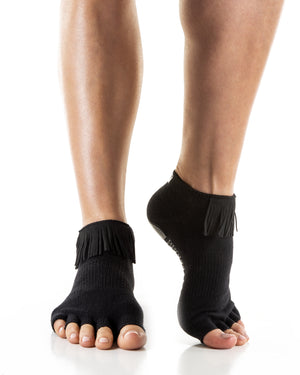 Load image into Gallery viewer, grip socks - yoga socks - barre socks - lagree socks - dance socks - toe socks