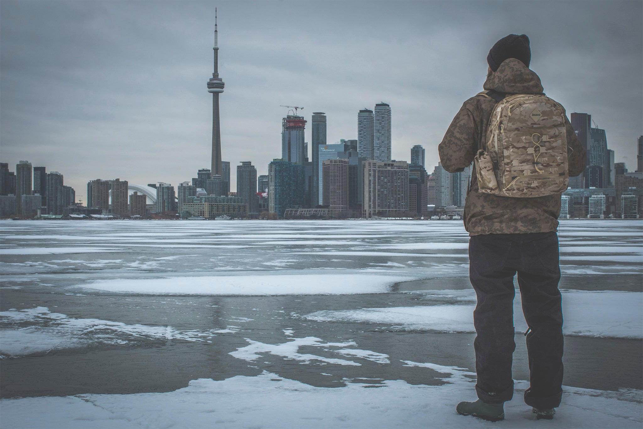 PARE BRUCE wearing multicam arid delta block in Toronto, ON. canada