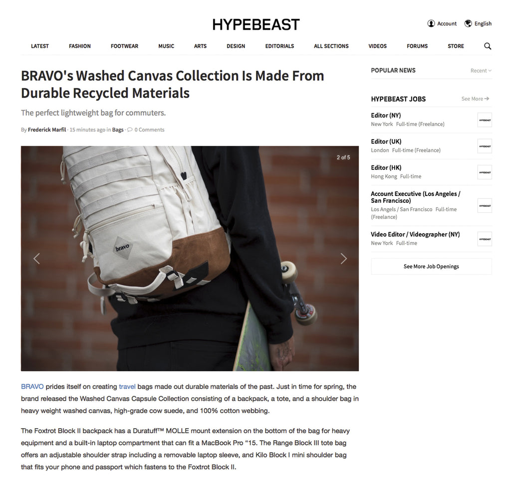 washed canvas collection via hypebeast