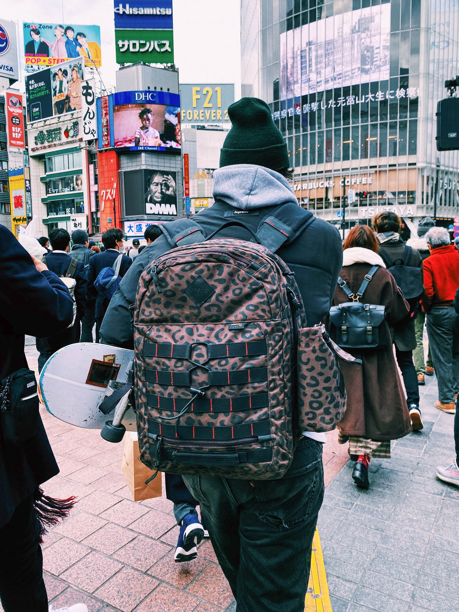 William Strobeck at Shibuya Crossing, Japan. photo by Atiba Jefferson