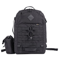 Load image into Gallery viewer, DELTA BLOCK II (BLACK CORDURA) - Bravo Company - A specialty travel and photography driven back pack company. visit www.bravocoworldwide.com for the foxtrot, axis, delta, kilo, and more.