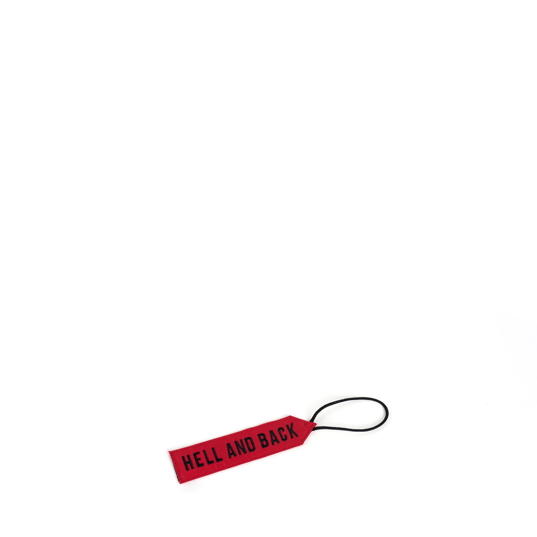 LUGGAGE TAG (RED) - Bravo Company - A specialty travel and photography driven back pack company. visit www.bravocoworldwide.com for the foxtrot, axis, delta, kilo, and more.
