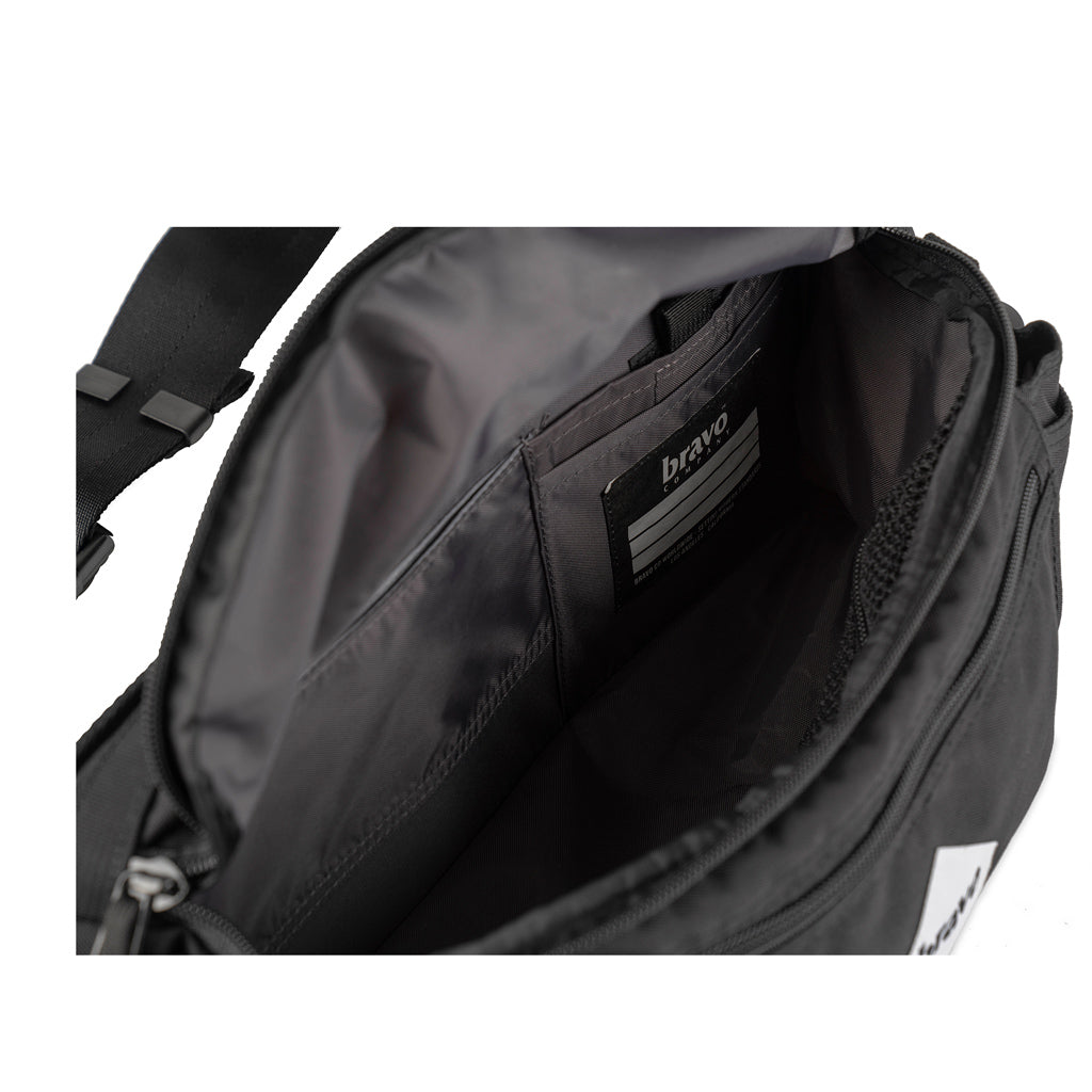 DRIFF BLOCK I (BLACK / WHITE CORDURA) - Bravo Company - A specialty travel and photography driven back pack company. visit www.bravocoworldwide.com for the foxtrot, axis, delta, kilo, and more.