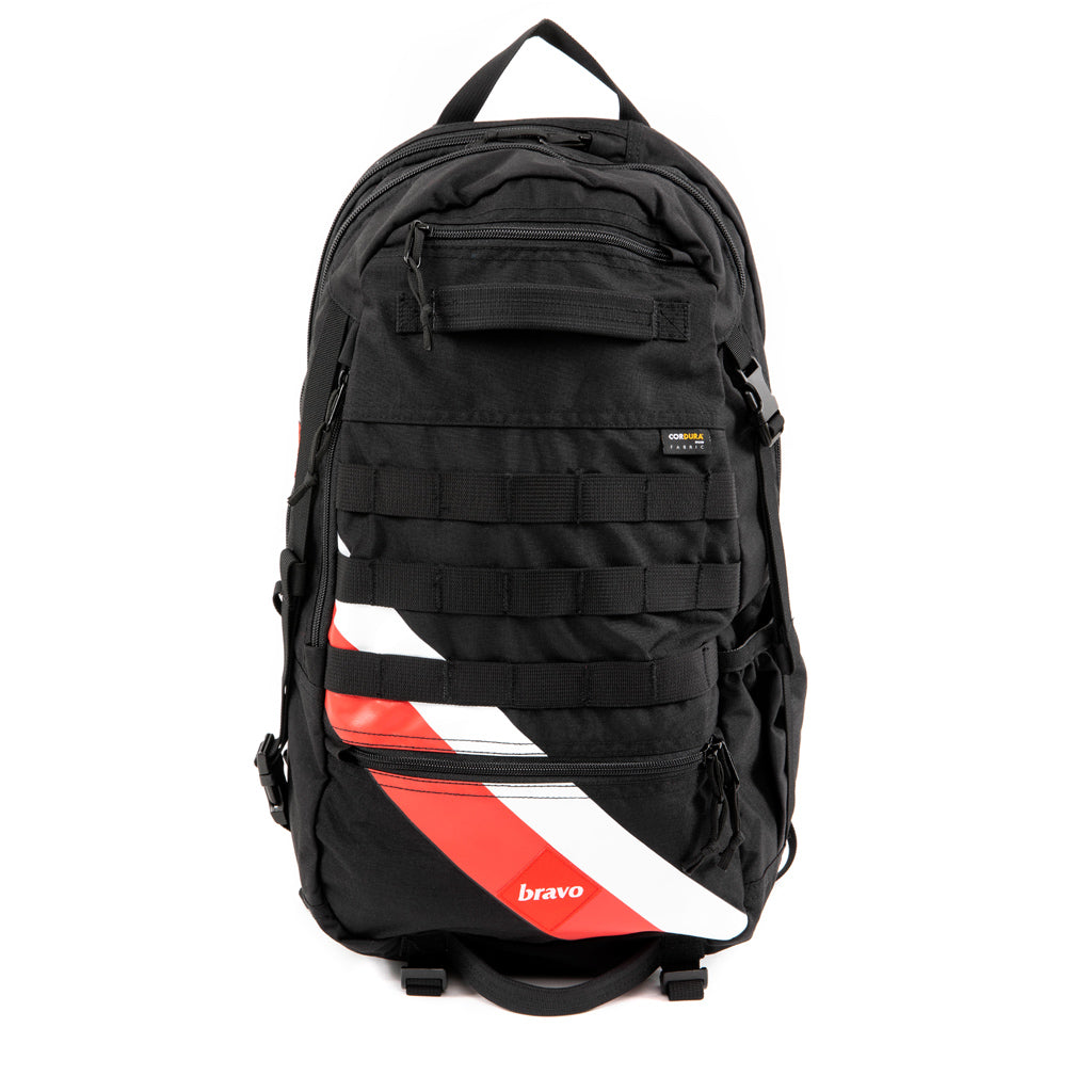 FOXTROT BLOCK II (CORDURA / BLACK / STRIPES) - Bravo Company - A specialty travel and photography driven back pack company. visit www.bravocoworldwide.com for the foxtrot, axis, delta, kilo, and more.