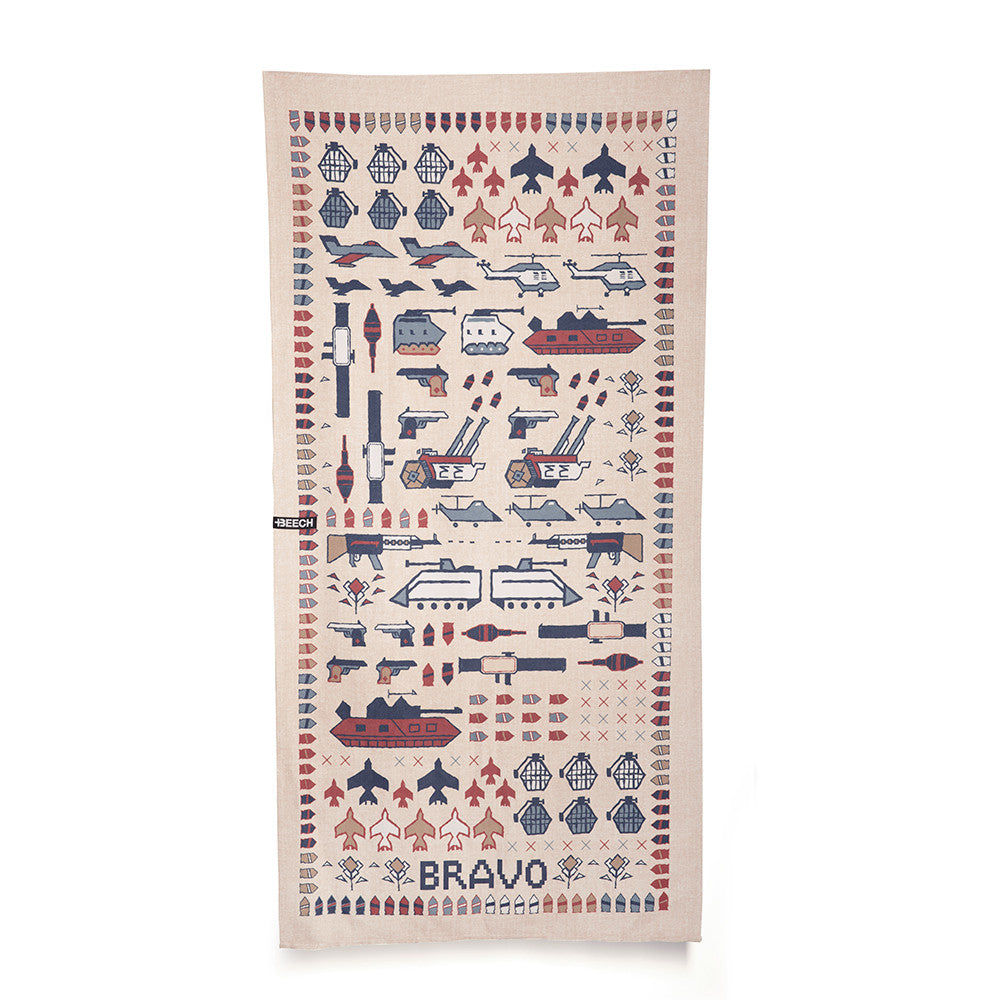 Beach Towel Block I (War Rug Print)