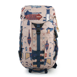 SIERRA BLOCK I (WAR RUG PRINT) - Bravo Company - A specialty travel and photography driven back pack company. visit www.bravocoworldwide.com for the foxtrot, axis, delta, kilo, and more.