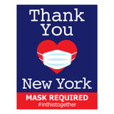 NEW YORK MASK REQUIRED (5 decals)